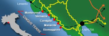 cinque terre mapa